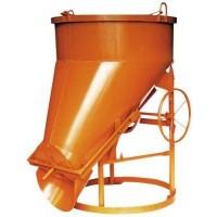 Bena pentru beton cu descarcare laterala - 2000 kg
