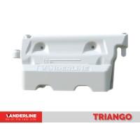 Parapet lestabil din material plastic Triango Alb