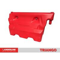 Parapet lestabil din material plastic Triango Rosu