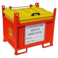 Container cu protectie laterala pentru deseuri periculoase