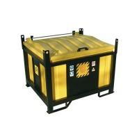 Container cu protectie din otel pentru baterii uzate