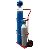 Carucior transport 2 cilindrii oxigen