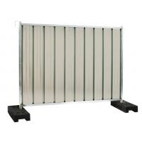 Gard mobil opac organizare santier cu suport beton