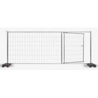 Poarta pentru gard mobil organizare santier cu suport beton