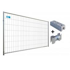 Gard mobil organizare santier cu suport beton