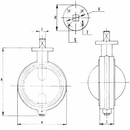 Robinet tip fluture PN 10/16 - 100 mm